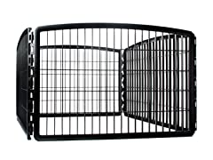4 Panel Plastic Play Pen - Black