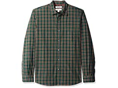 Men's Shirt Green/Burgundy, X-Small