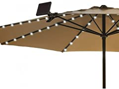 Solar Patio Umbrella String Light