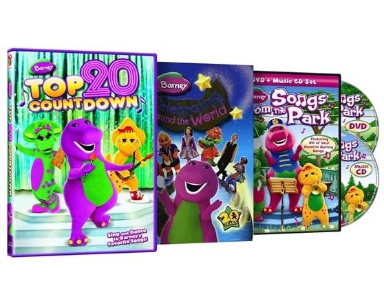 Barney 3 pack dvd woot