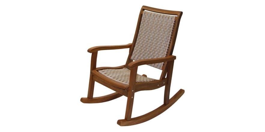 Resin Wicker Eucalyptus Rocking Chair