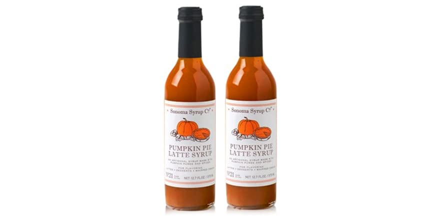 Sonoma Syrup Pumpkin Pie Latte Syrup, 2pk | WOOT