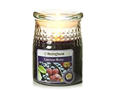 3 LED Wax Jar Flamesless Candle Purple 3.5x5
