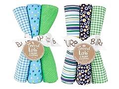 6-Piece Burp Cloth Set- Apple Berry