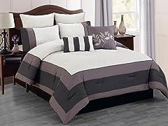 Barcelona Hotel 8 Piece Comforter Set- 2 Sizes