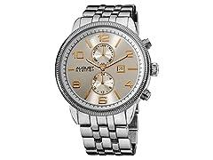 August Steiner Swiss Quartz Coin Edge Watch