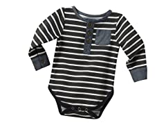 Henley Shirtzie - Grey (0M-3M)