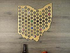 Beer Cap Map: Ohio