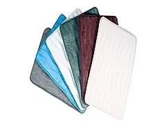 Memory Foam Extra Long Bath Rug-24x60-8 Colors