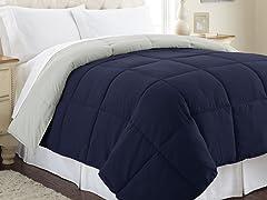 Down Alternative Reversible Comforter-3 Sizes