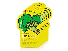 I'm Real Broccoli Mask Sheet -  5 Pack