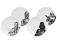 Zak Designs Star Wars App Plates Set of 4