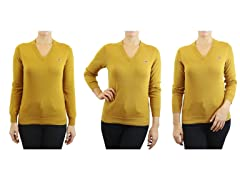 Women's Cotton V-Neck Sweater