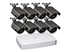 8CH 2CIF DVR Sys w/ 8 Weatherproof Cams & 500GB HD