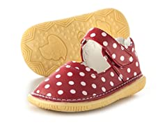 Mary Jane Squeaker - Red & Dots (3-8)
