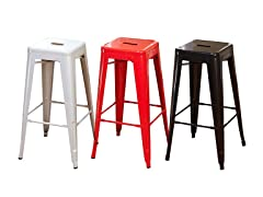 Pair of Metal Stacking Stools (3 Colors)