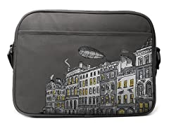 London - Gray Cotton Canvas Diaper Bag