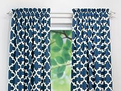 Fynn Rod Pocket Curtain Panel - Cadet - 3 Lengths