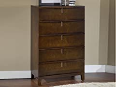 Legend Wood 5 Drawer Chest