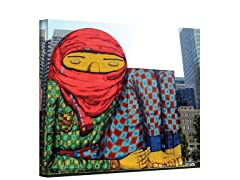 The Giant of Boston by Os Gemeos - Wrapped Canvas