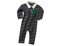 Striped Romper - Blue (3M-6M)
