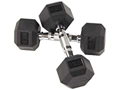 BalanceFrom Rubber Dumbbell 10lb Pair