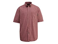 Barton Cotton Button-Down Shirt, Red