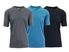 Mens Heathered V-Neck Tees 3-Pack