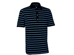 Performance Stripe Golf Shirt - Black/Ash