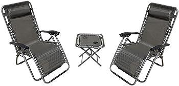 Akari LF60040 Zero Gravity Chairs with Table Furniture Set