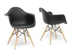 Baxton Studio Pascal Shell Chair - Set of 2