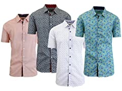 Galaxy by Harvic Men's Short Sleeve Slim Fit Shirts