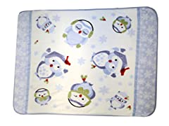 Hi Pile Printed 60x80 Throw-Winter Owl