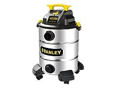 10 Gallon, 5.5 Peak HP Stainless Steel Wet/Dry Vacuum