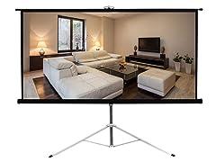 Floor Standing Portable Projector Screen 50''x66.9''