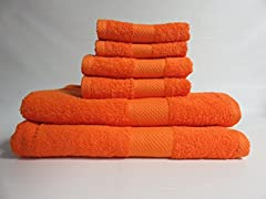 Lantrix Natural Cotton 6 Piece Towel Set