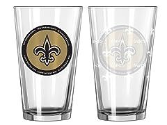 New Orleans Saints ROH Pint Glasses (2)