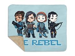 Rebel Ladies II Sherpa Blanket