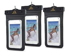 Gear Beast Waterproof Dry Bag for Phones - 3 pack