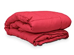 Embossed Microfiber Comforter Red - 3 Sizes