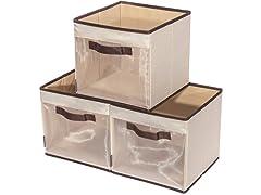 Storage Maniac 3-Pack Foldable Cube Bins