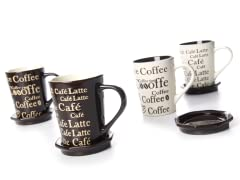 Coffee Mugs with Coaster - Set of 4
