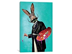 iCanvas Rabbit Painter