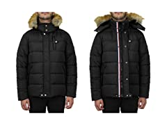 Men's Heavyweight StripeJacket+Detachable Hood