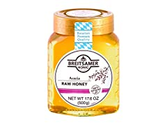 Breitsamer Acacia Raw Honey, 17.6 oz