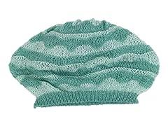 Anne Klein Scallop Stripe Slouch Beret, Green