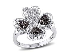 0.10cttw Black Diamond Ring