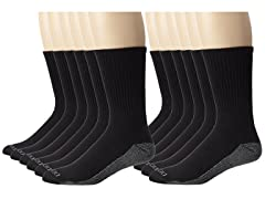 Dickies Men's Dri-Tech Comfort Crew Socks
