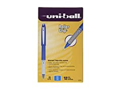 Uni-Ball XL Grip Rollerball Pen, 12 Pk