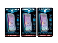 Tempered Glass Screen Protector for Note 4/5 3pk